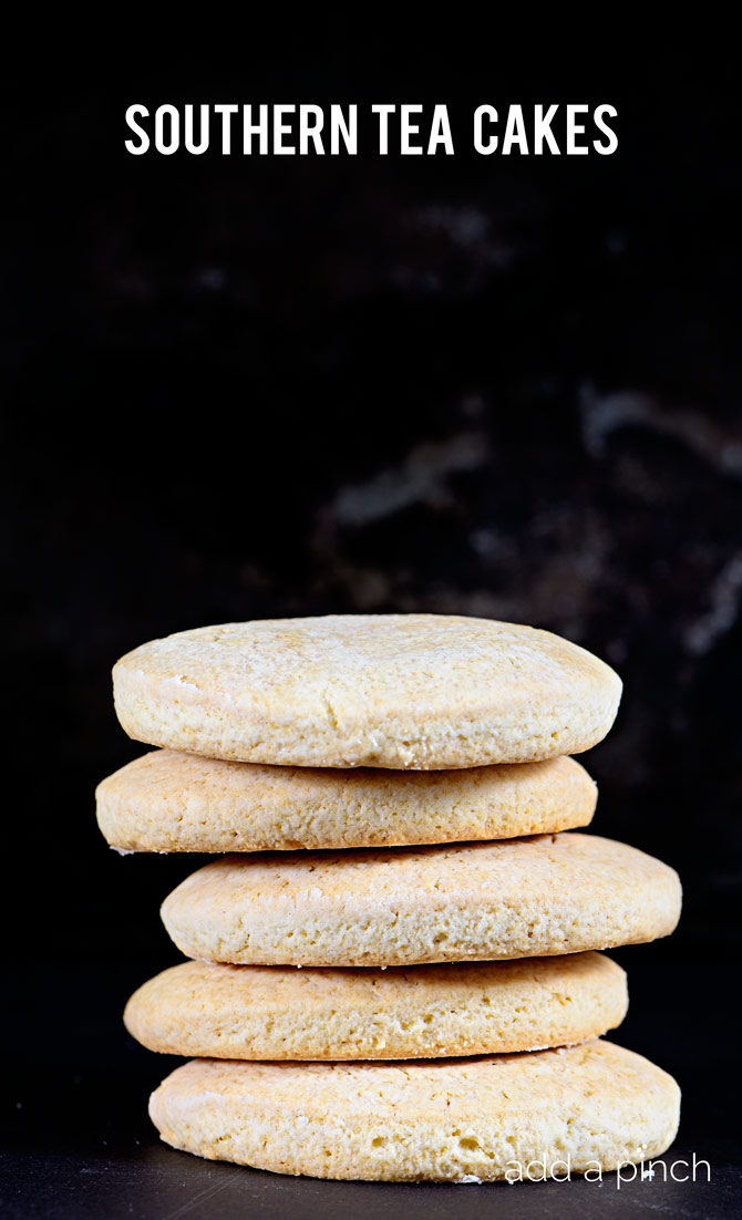 Southern Tea Cakes are old-fashioned, simple sugar cookies. Tender and delicious, these classic cookies are a family favorite! // addapinch.com