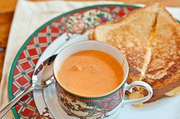 Chunky Tomato Basil Soup Recipe | Add a Pinch