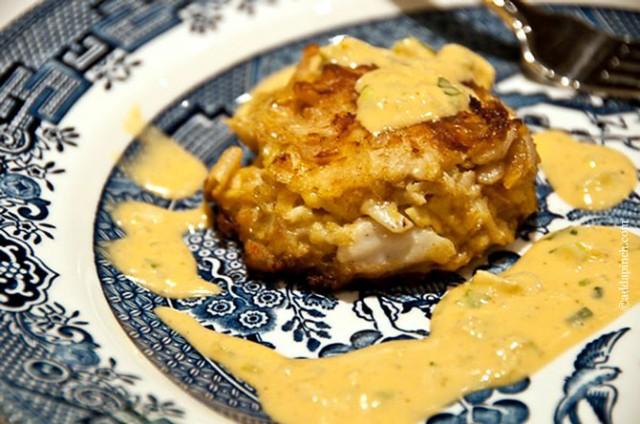 Crab Cakes Recipe | ©addapinch.com