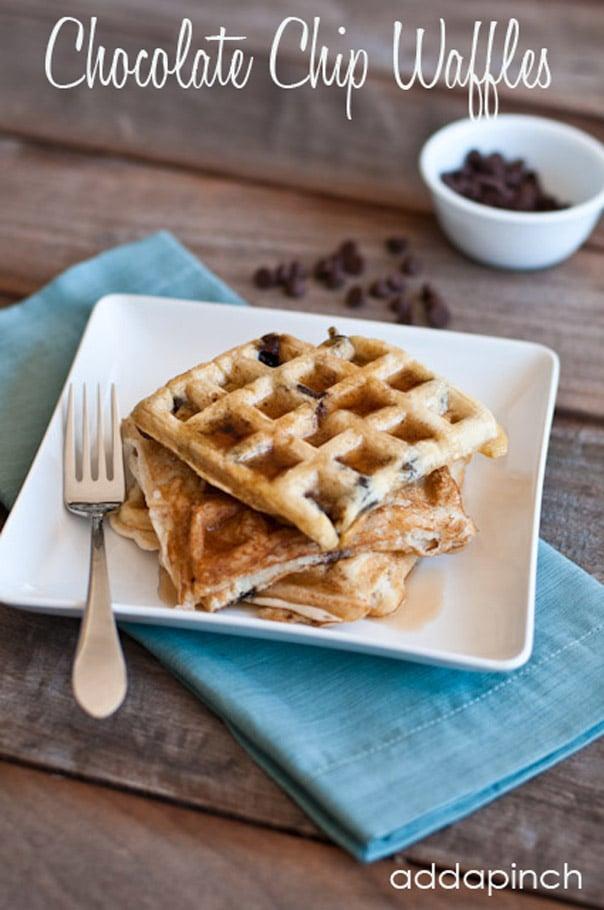 Chocolate Chip Waffles Recipe - Add a Pinch
