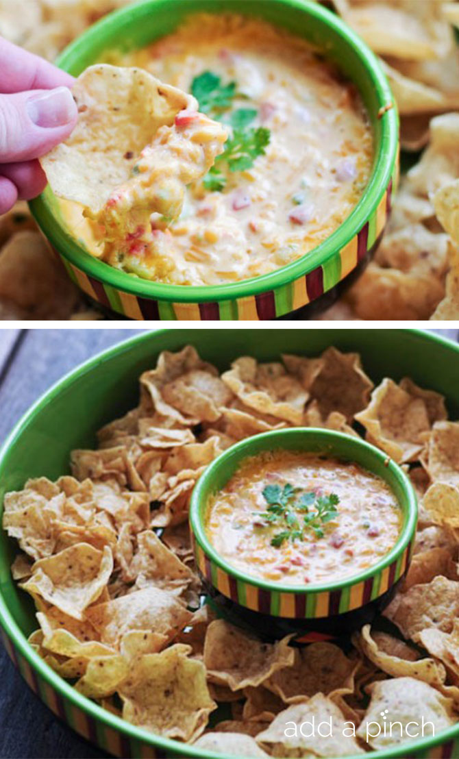 Hot Pimento Cheese Dip is a delicious twist on the classic pimento cheese recipe, taking it to dip form. Get this family-favorite recipe! // addapinch.com