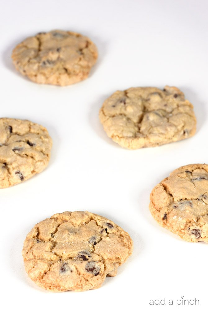 Soft & Chewy Chocolate Chip Cookies Recipe - Chewy Chocolate Chip Cookie recipe with a secret little ingredient. They are soft, chewy, and amazing! Learn the secrets to the chocolate chip cookies that everyone requests! // addapinch.com