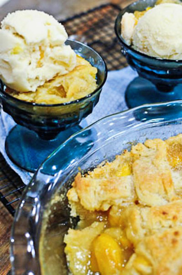 Peach Cobbler Recipe | ©addapinch.com
