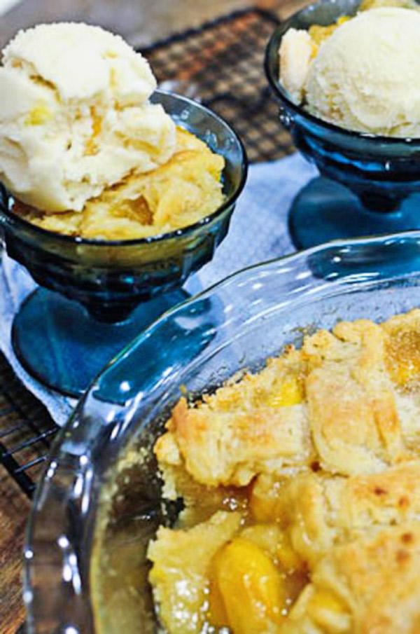 Peach Cobbler Recipe | ©addapinch.com