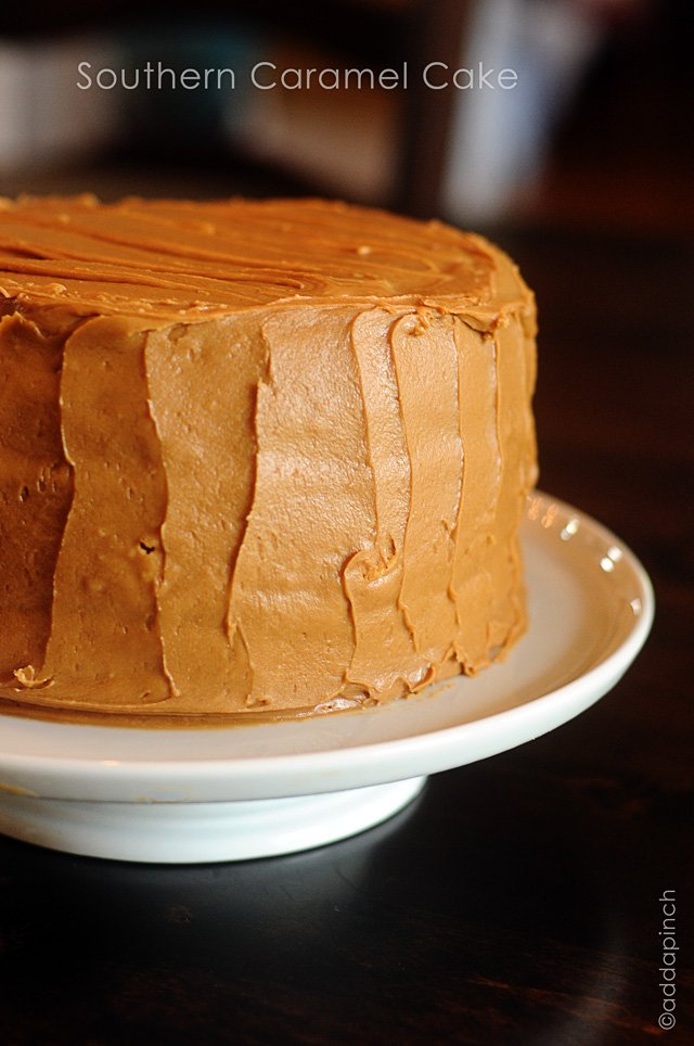 Southern Caramel Cake from addapinch.com #cake #recipe #desserts #caramel