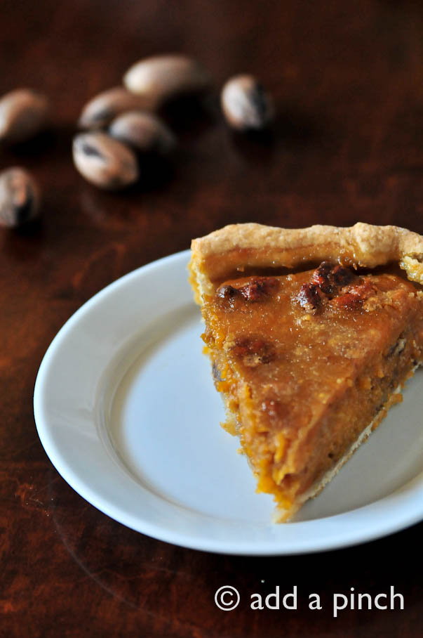 Sweet Potato Pecan Pie | ©addapinch.com