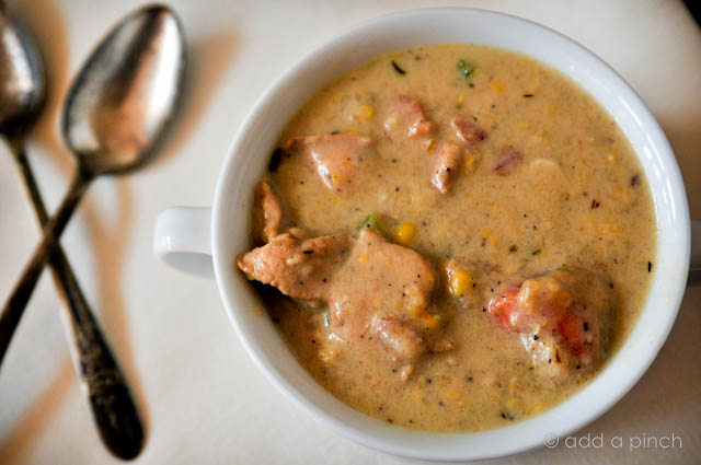 Southern Chicken And Corn Chowder Recipe Cooking Add A Pinch
