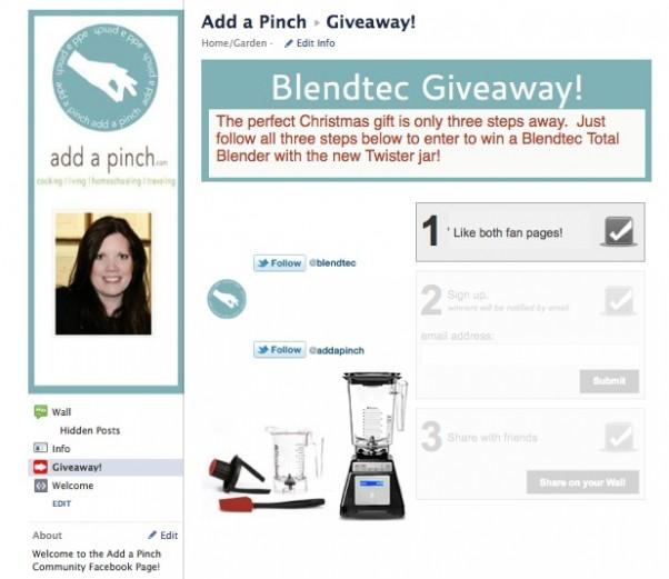 Blendtec Total Blender Giveaway