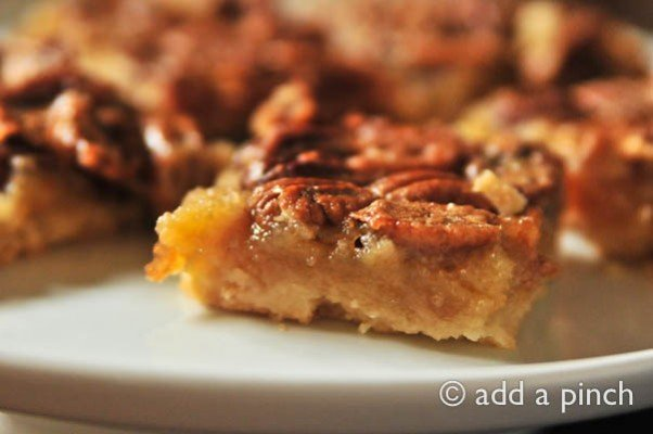Southern Pecan Pie Bars Cooking Add A Pinch Robyn Stone