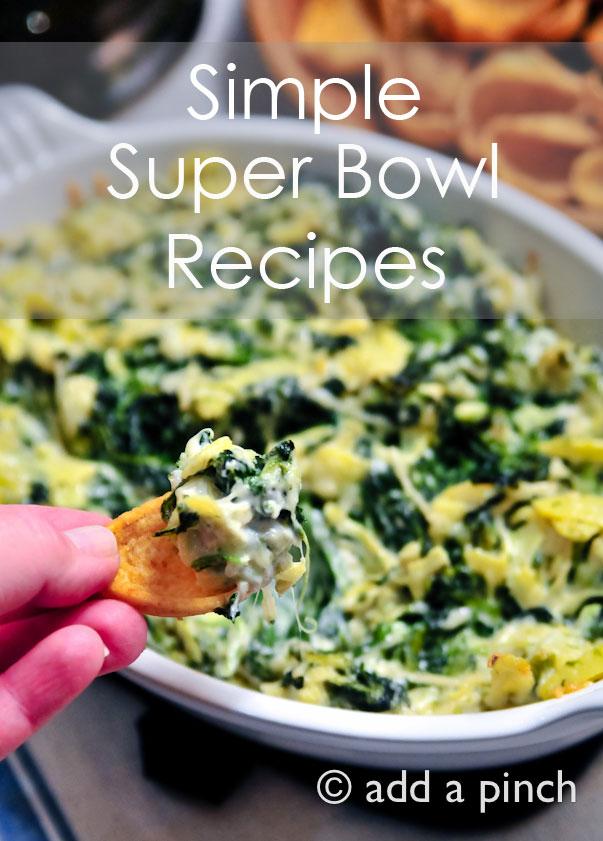 Super Bowl Menu Ideas and Recipes