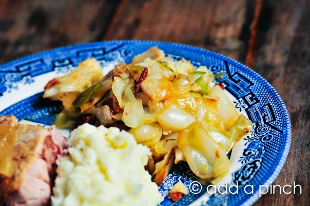 Braised Cabbage with Bacon Recipe 2