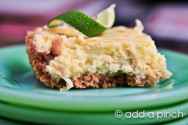 Coconut Lime Cheesecake Bars Recipe