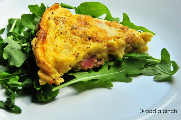 Ham and Gruyere Crustless Quiche Recipe - Add a Pinch