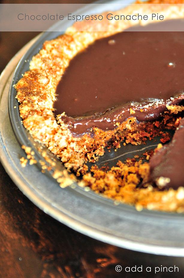 Chocolate Espresso Ganache Pie | Add a Pinch