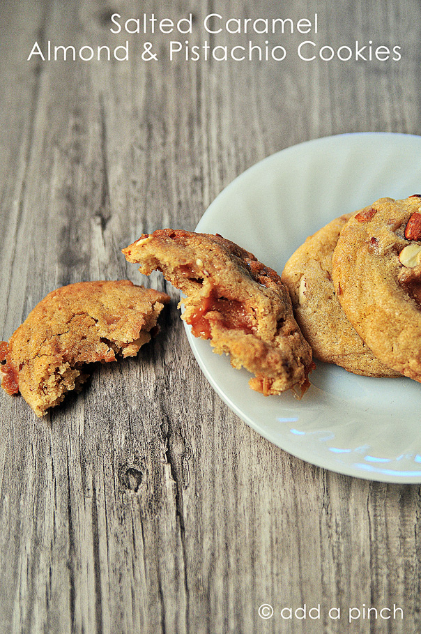 Salted Caramel Almond and Pistachio Cookies 1