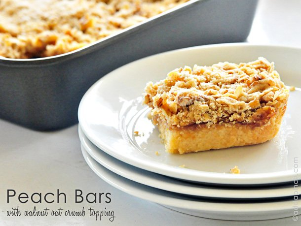 Peach Bars from addapinch.com