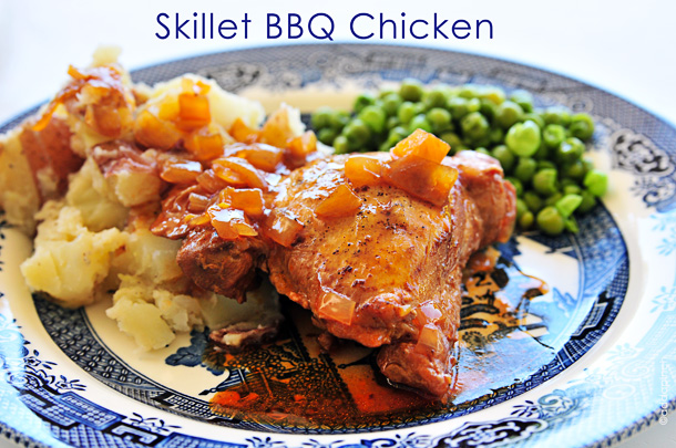 Skillet-BBQ-Chicken from addapinch.com