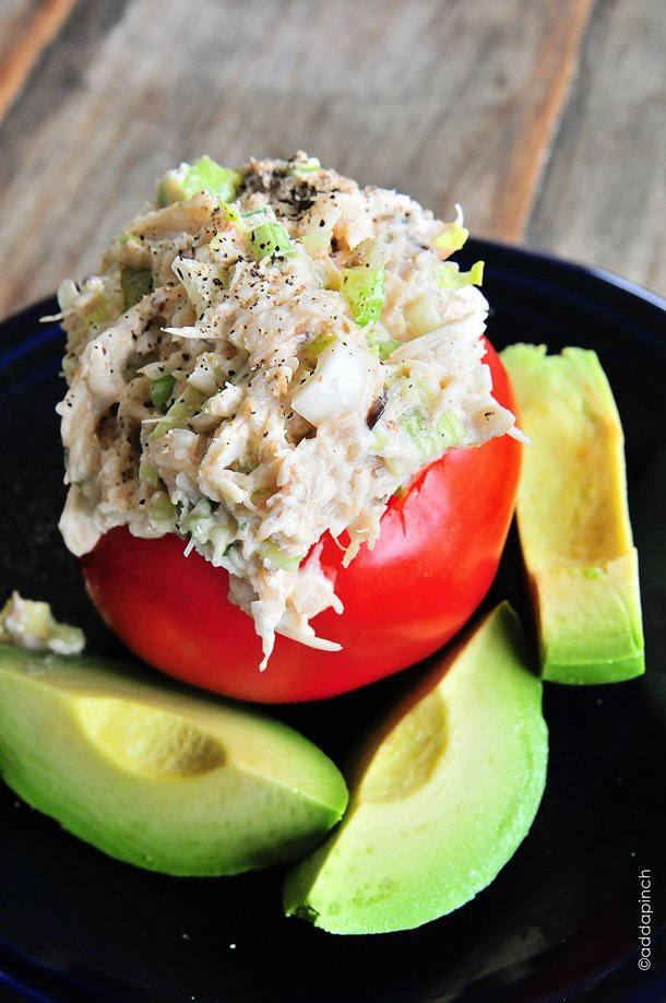Crab Salad Recipe from addapinch.com
