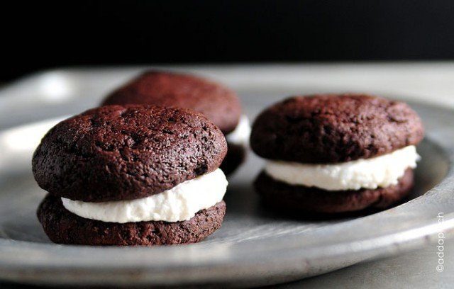 Devils Food Whoopie Pies from addapinch.com