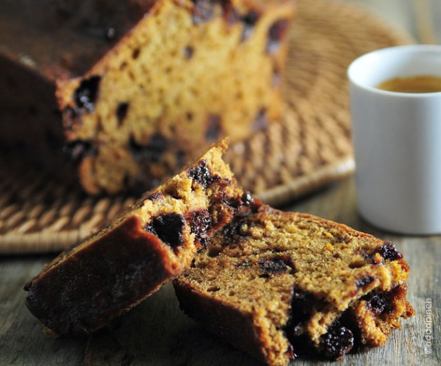 Chocolate Chip Espresso Pumpkin Bread