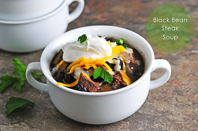 Black Bean And Steak Soup Recipe Cooking Add A Pinch Robyn Stone