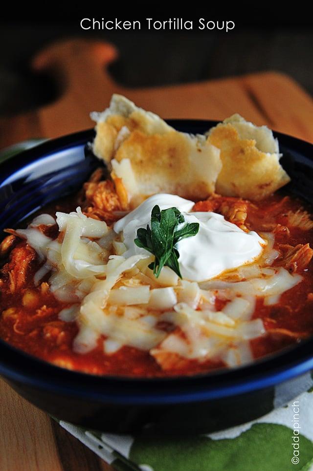 chicken tortilla soup from addapinch.com