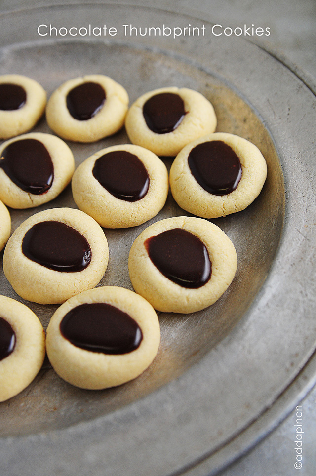 Chocolate Thumbprint Cookie Recipe — Dishmaps