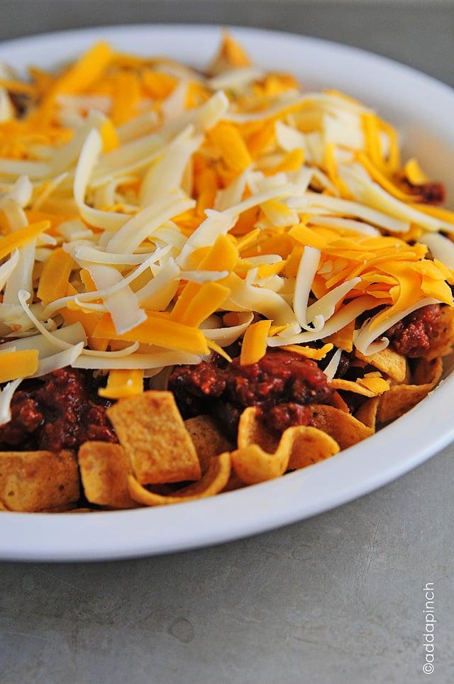 Frito Chili Pie Recipe - Cooking | Add a Pinch | Robyn Stone