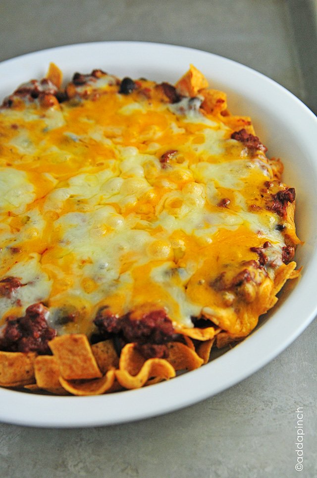 Frito Chili Pie Recipe from addapinch.com
