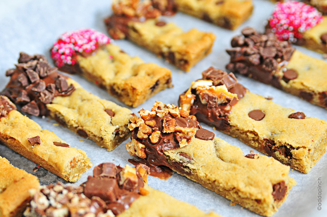 Chocolate Chip Cookie Bars - Cooking | Add a Pinch | Robyn Stone