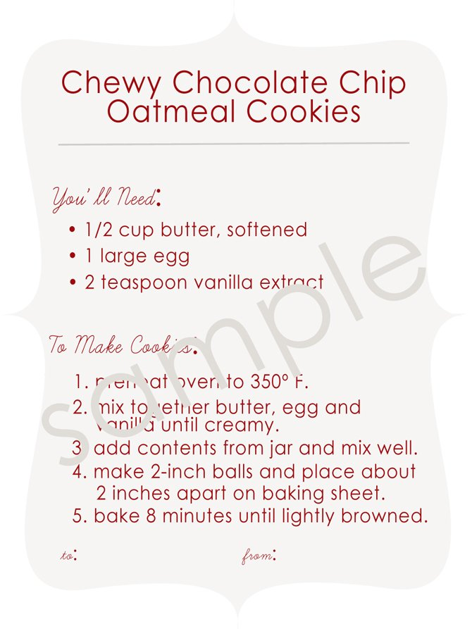 Chocolate chip cookie jar recipes