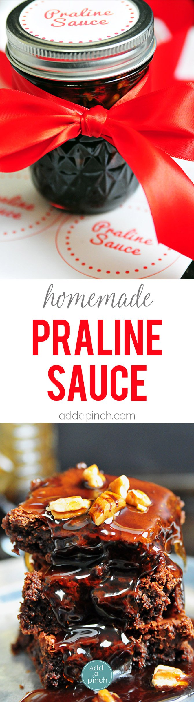 Homemade Praline Sauce - Praline Sauce is a classic Southern topping. Praline Sauce is delicious on top of ice cream, waffles, pancakes, or anywhere you need a little bit of sweetness. Makes a great gift! // addapinch.com