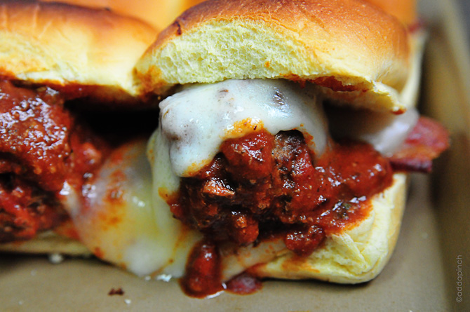 Meatball Sliders Recipe - Cooking | Add a Pinch | Robyn Stone