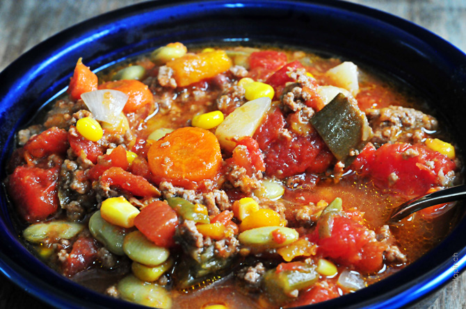 Slow cooker vegetable soup recipe add a pinch save sciox Choice Image