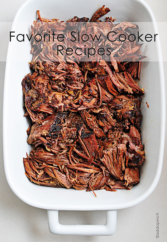 Favorite Slow Cooker Recipes | addapinch.com