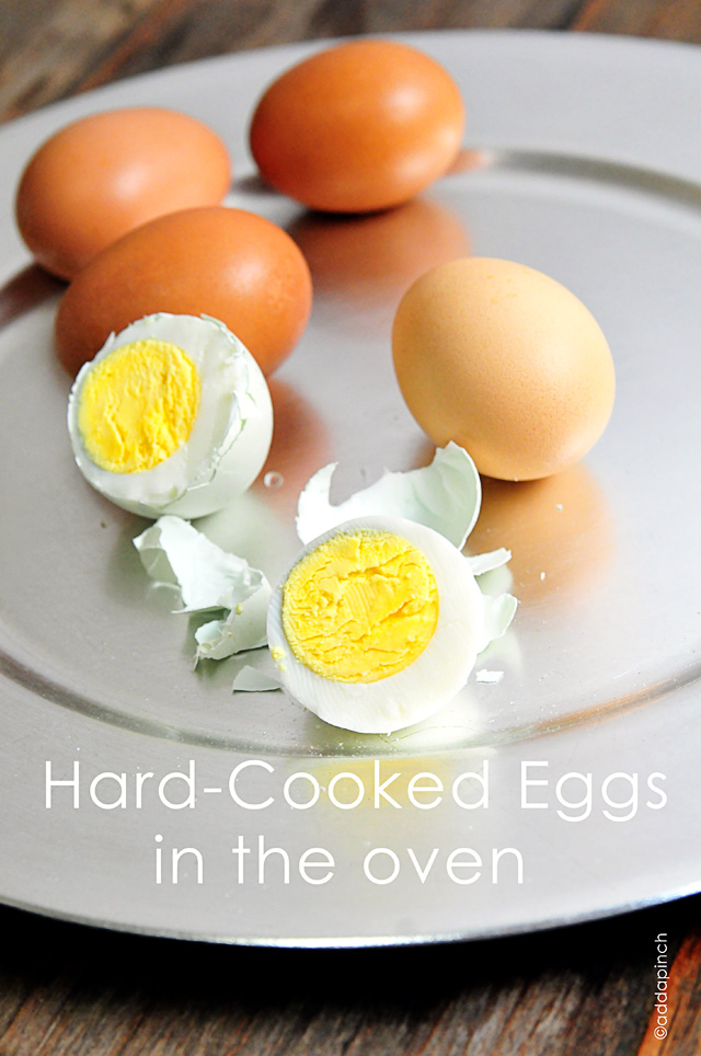 Hard-Cooked Eggs in the Oven | addapinch.com