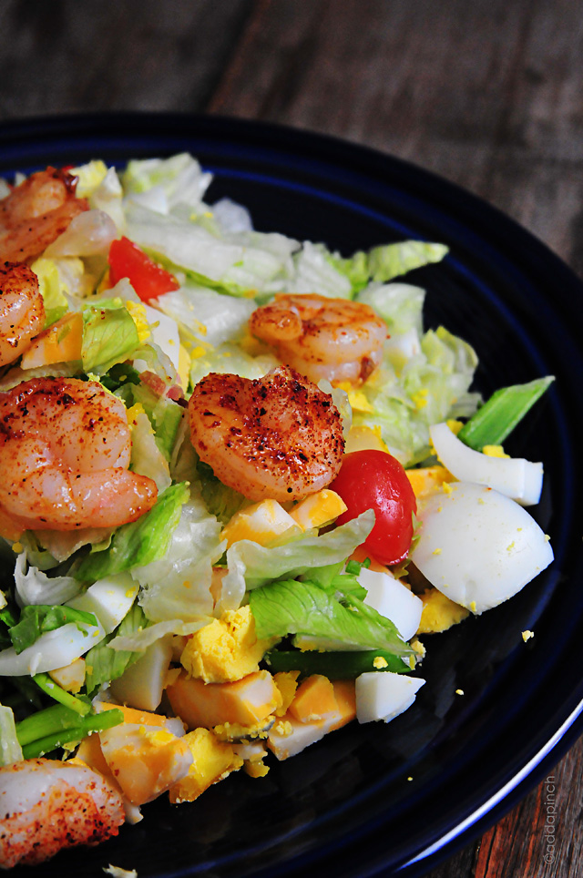 Blackened Shrimp Salad | addapinch.com