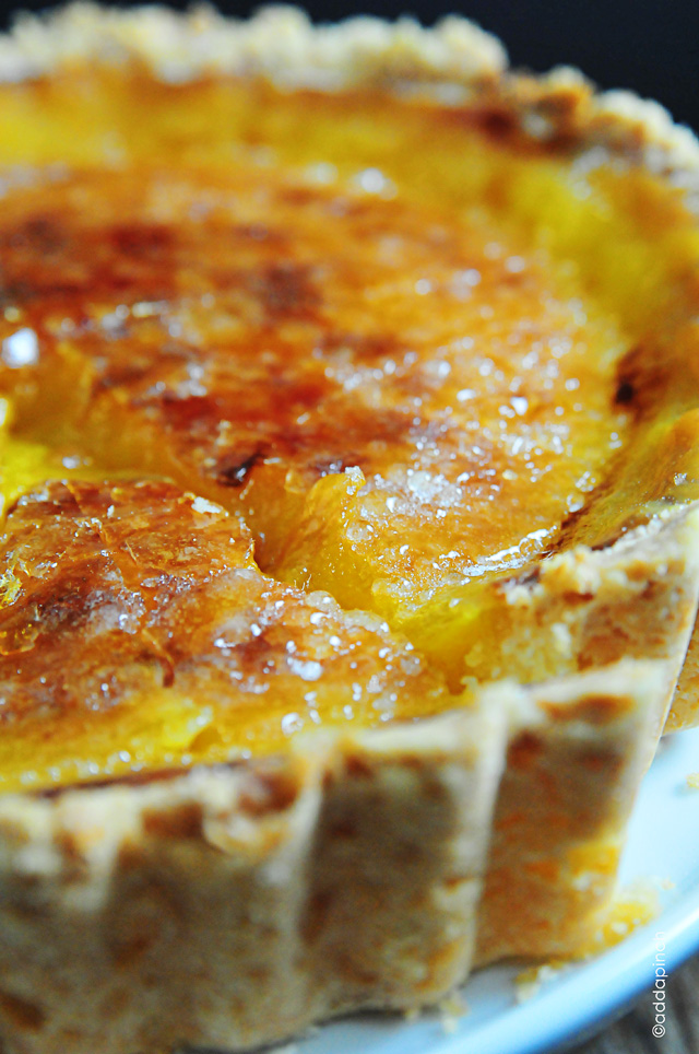 Bruleed Lemon Tart | addapinch.com