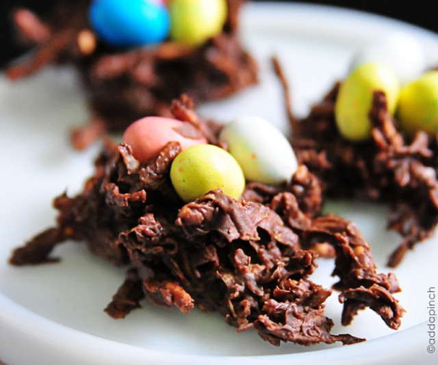Chocolate Coconut Nests | addapinch.com