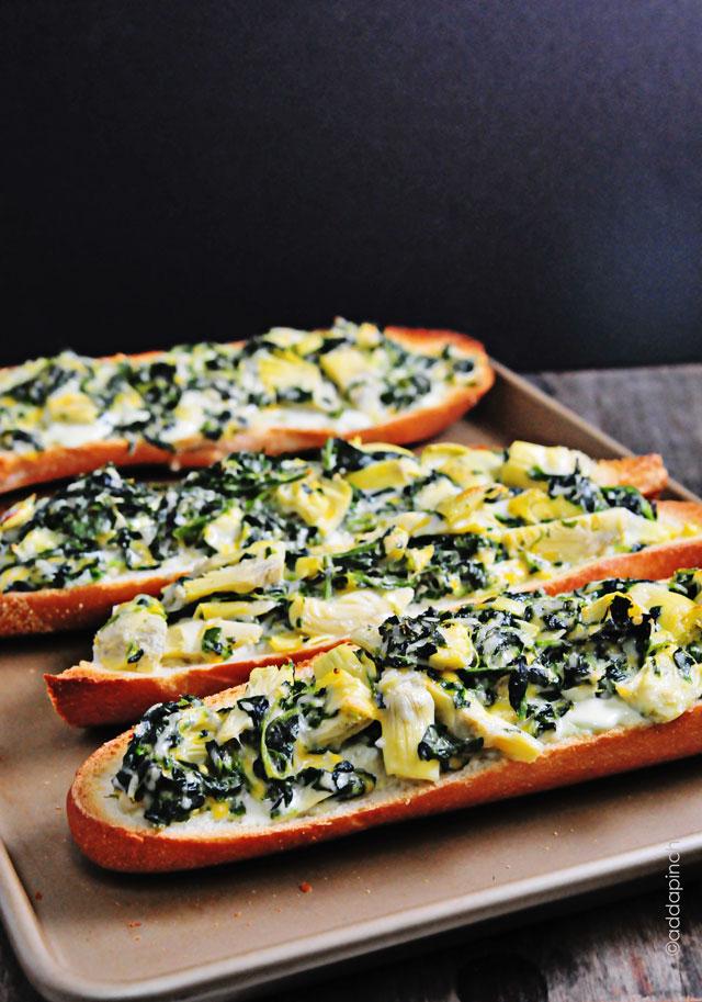 Spinach Artichoke Bread | addapinch.com