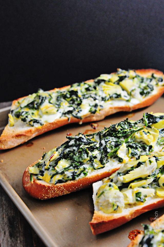 Spinach Artichoke Bread Recipe - Cooking   Add a Pinch   Robyn Stone