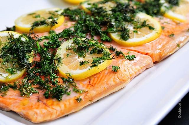 Lemon Dill Salmon Recipe | ©addapinch.com