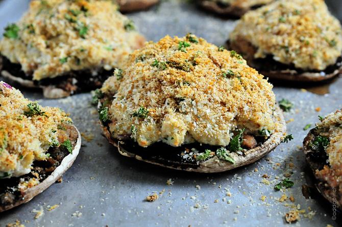 Crab Stuffed Mushrooms Recipe - Add a Pinch