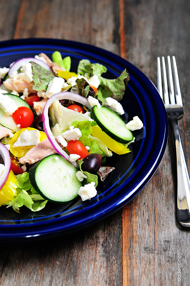 Greek Salad Recipe | addapinch.com