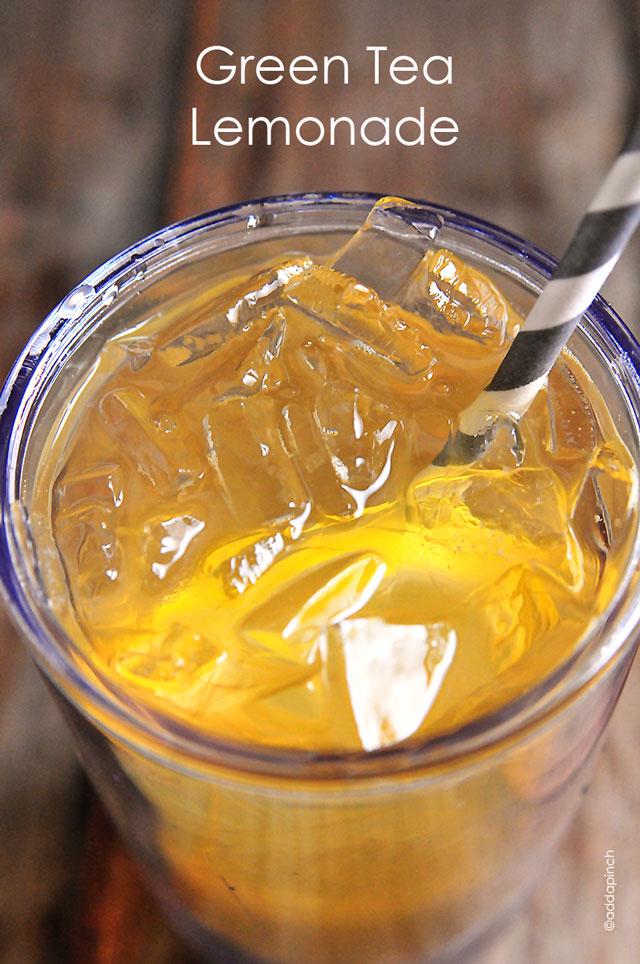 Green Tea Lemonade | addapinch.com