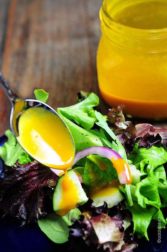 Honey Mustard Dressing Recipe | © addapinch.com