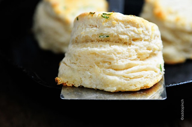 Parmesan Chive Biscuits Recipe | ©addapinch.com