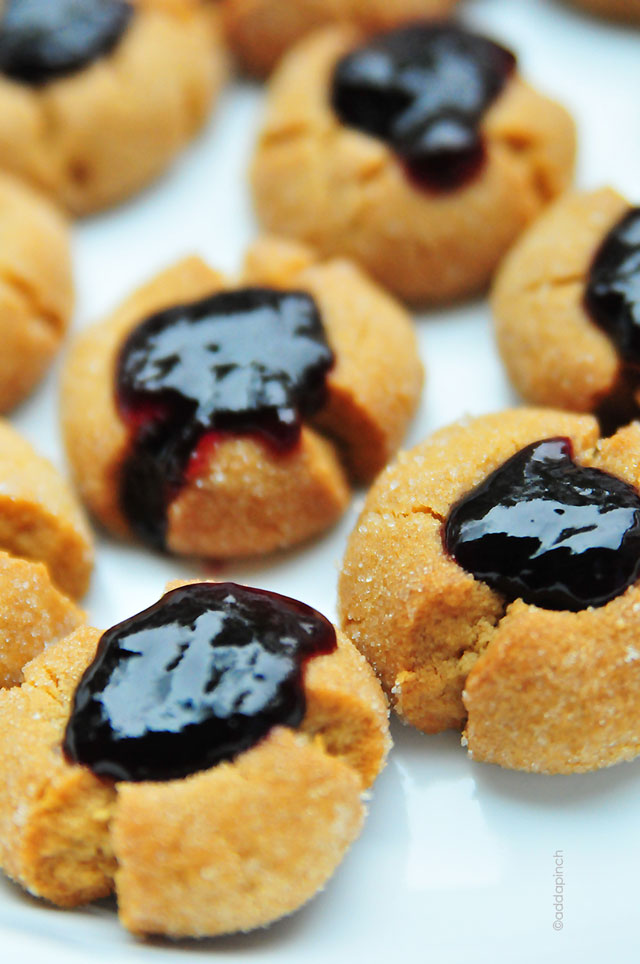 Peanut Butter Jelly Thumbprint Cookies Recipe | add