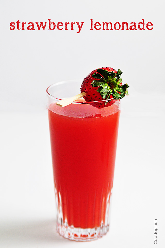 Strawberry Lemonade Recipe | addapinch.com