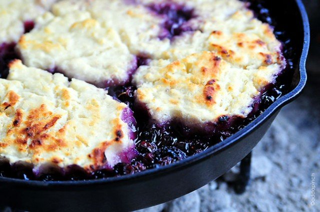 Blueberry Cobbler Recipe | ©addapinch.com
